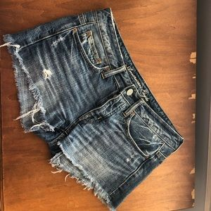 American eagle mid rise jean shorts